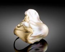 "Load image into Gallery viewer, ""Wave""- Keshi Baroque Pearl Ring."