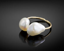 Load image into Gallery viewer, Backbone Freshwater Pearl Ring