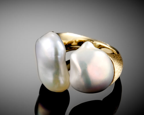 Air Keshi Freshwater Pearl Ring