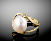 "Load image into Gallery viewer, ""Saturn""- Floating Pearl Ring."