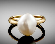 "Load image into Gallery viewer, ""Century""- Keshi Pearl, Solitaire Ring."