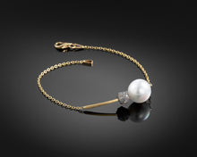"Load image into Gallery viewer, ""Expedition""- Pearl & Diamond Bracelet."