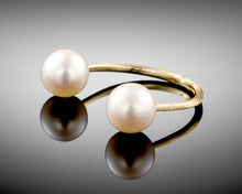 "Load image into Gallery viewer, ""Moons of Saturn""- Open Pearls Ring."