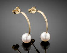 "Load image into Gallery viewer, ""Reflection""-Arc Pearls Earrings."