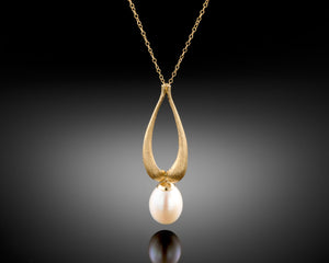 """Rise""- Versatile Pearl Necklace."