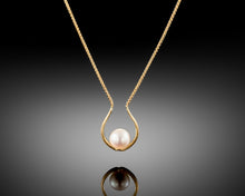 "Load image into Gallery viewer, ""Pray""- Horseshoe Pearl Necklace."