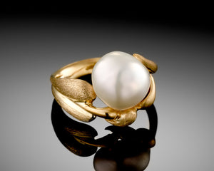 """Autumn""- Keshi Pearl Ring."