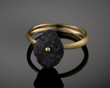 "Load image into Gallery viewer, ""Comet""- Rough Diamond Gold Ring."