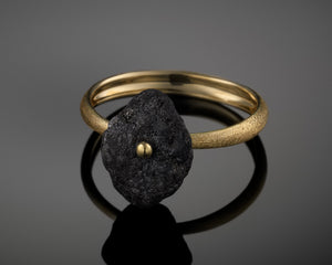 """Comet""- Rough Diamond Gold Ring."