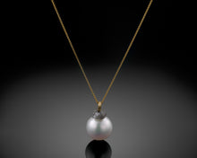 "Load image into Gallery viewer, ""Earth""- Raw Diamond & Pearl Necklace."