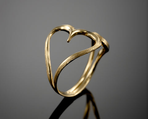 Heart Ring, Love ring, silver ring, Sterling silver ring, rhodium plated, 18K White Yellow ,Red Gold, Gift for her, For Woman, Durable