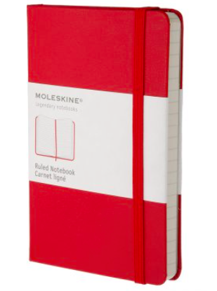 RED RULED NOTEBOOK POCKET
