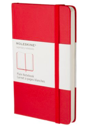 RED PLAIN NOTEBOOK POCKET