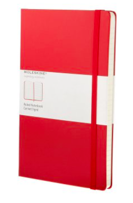 RED RULED NOTEBOOK LARGE