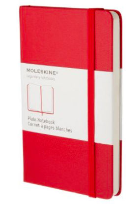 RED PLAIN NOTEBOOK LARGE
