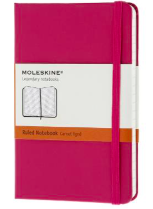 MAGENTA RULED NOTEBOOK POCKET