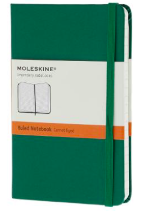 GREEN RULED NOTEBOOK POCKET