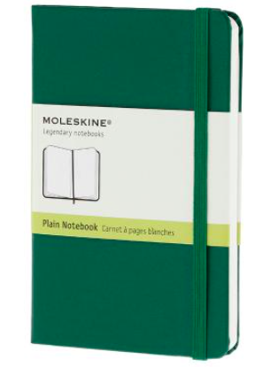 GREEN PLAIN NOTEBOOK POCKET