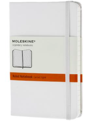 WHITE RULED NOTEBOOK POCKET