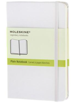 WHITE PLAIN NOTEBOOK POCKET