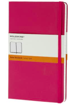 MAGENTA RULED NOTEBOOK LARGE