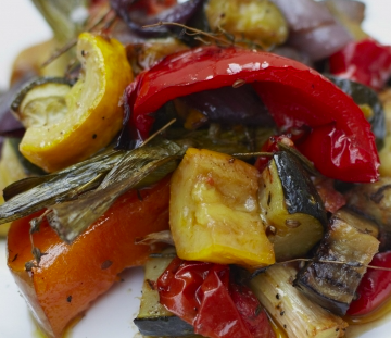 Mediterranean style roast vegetables