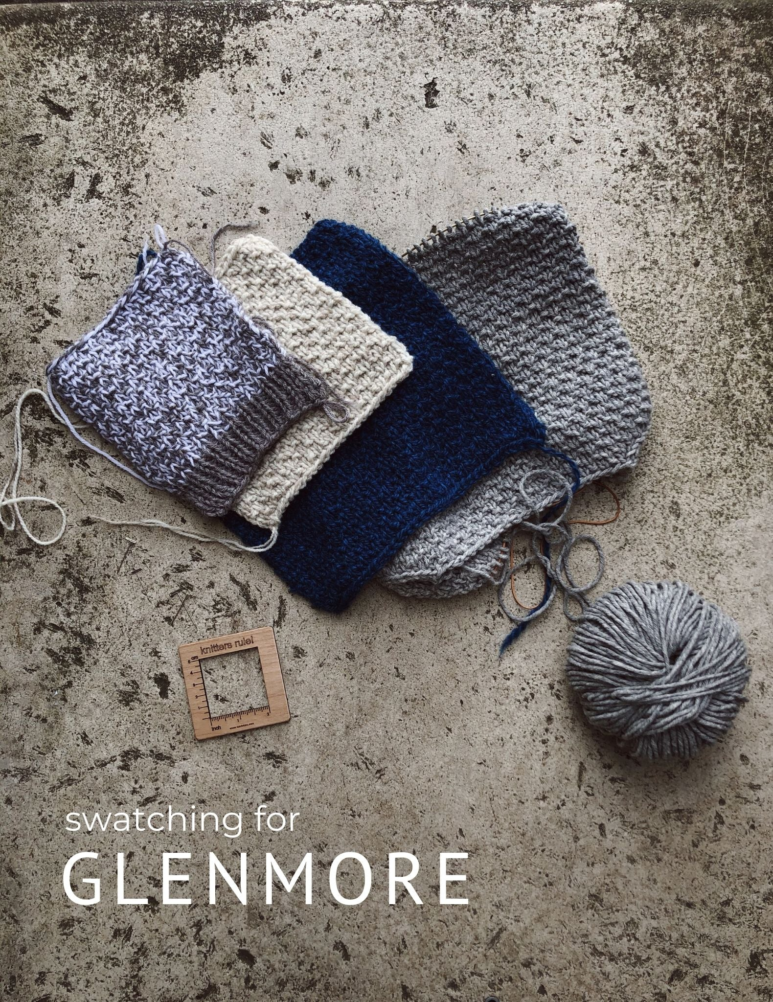 Swatching for Glenmore