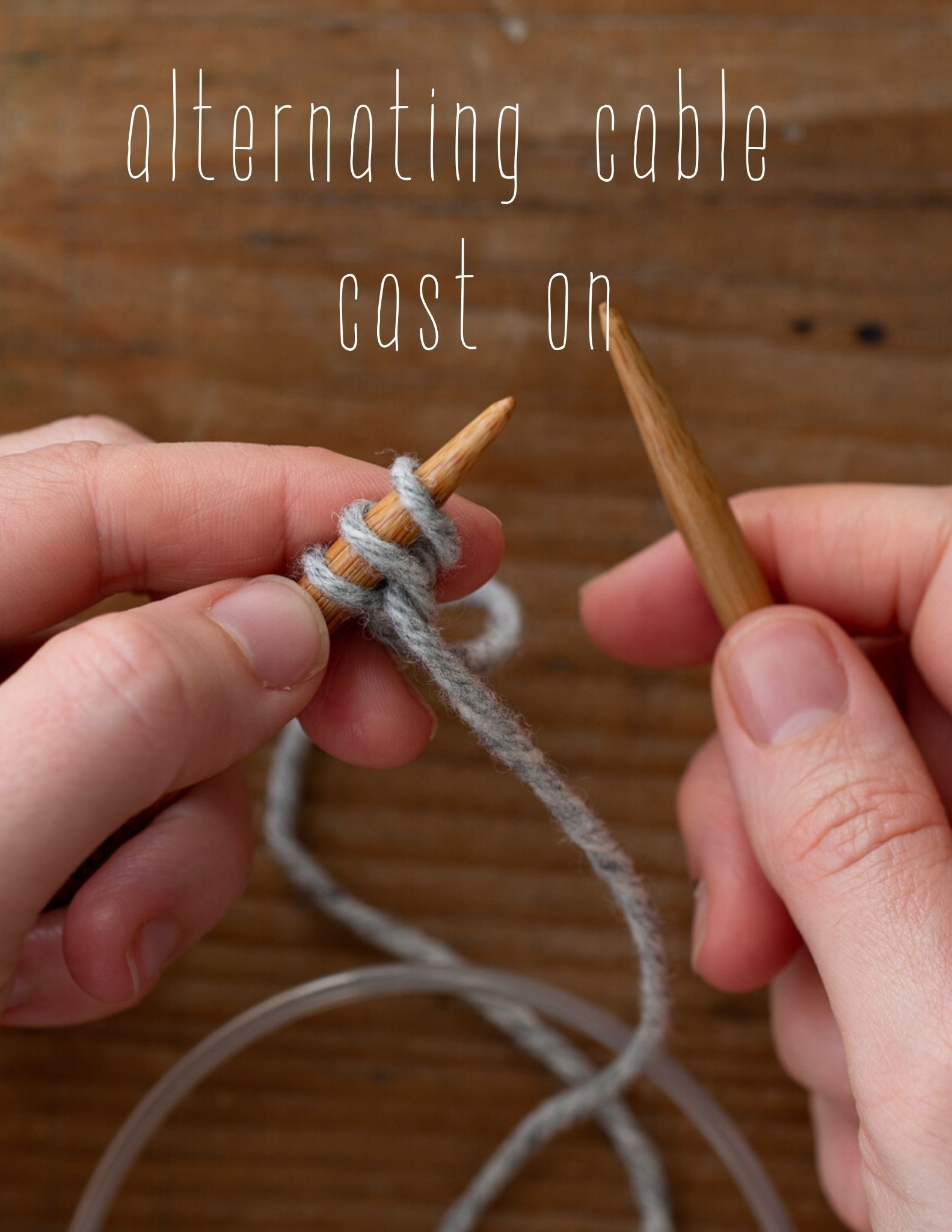 Alternating cable cast on tutorial
