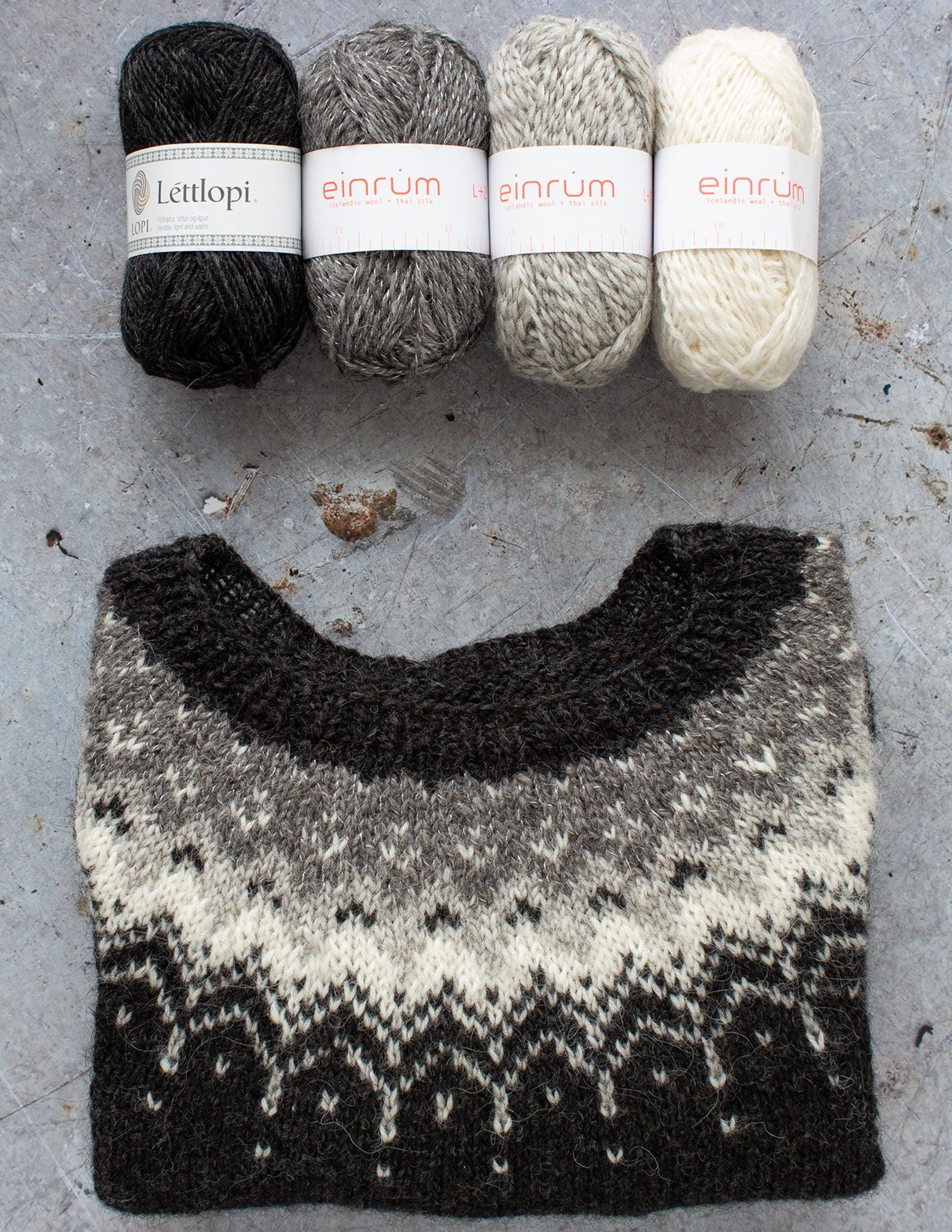 Bleideag: an easy yoke sweater that beginners can tackle