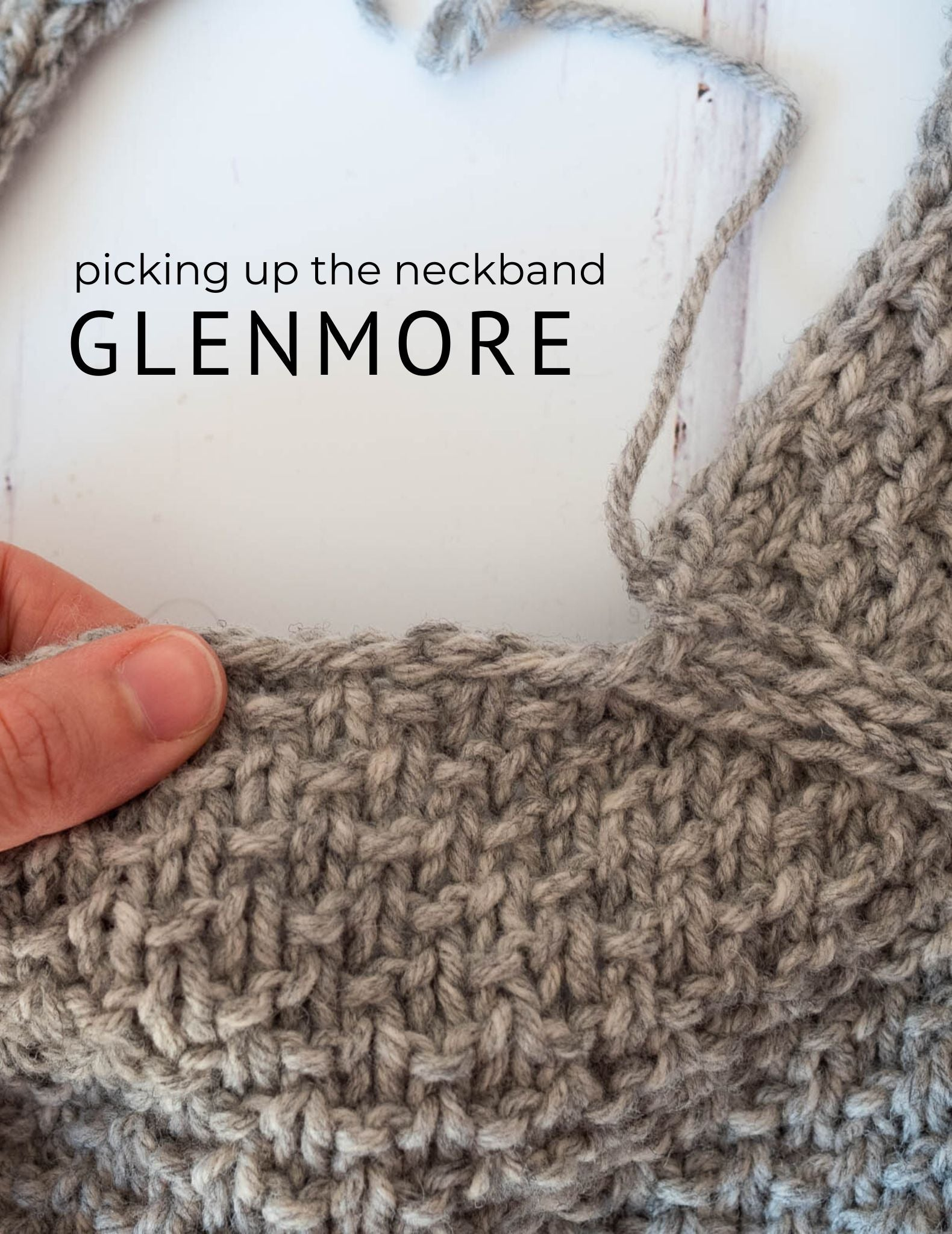 Picking up the neckband on Glenmore