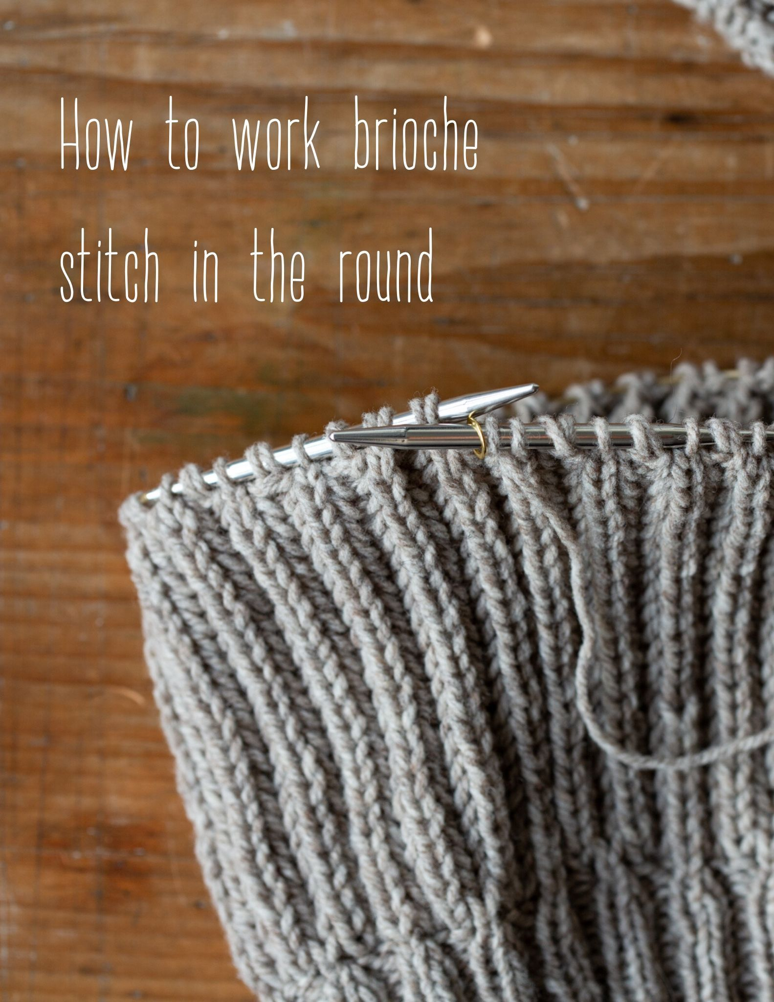 How to work Brioche Stitch in the round