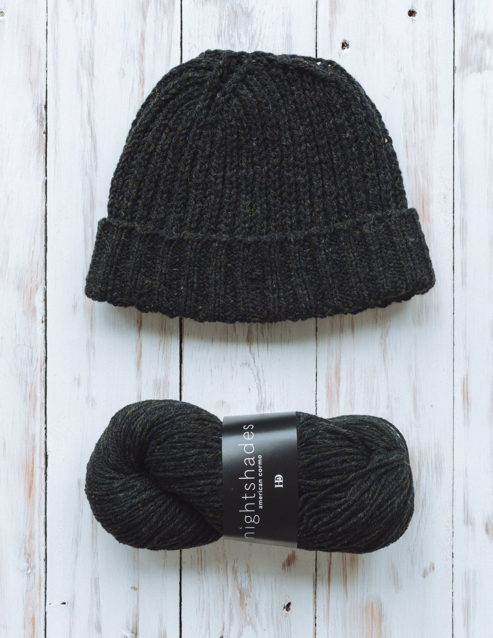 Daniel's Hat in large, shown in Harrisville Nightshades