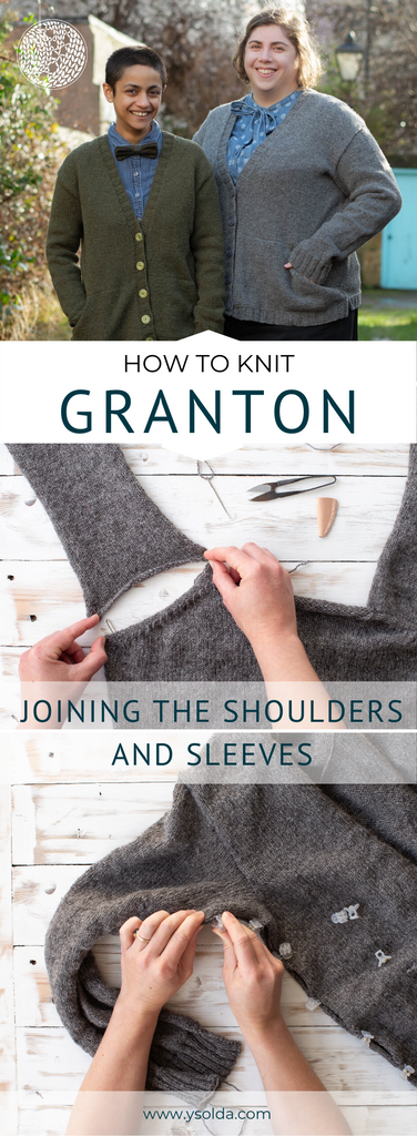 Save our post about how to join the shoulders and sleeves on Granton.