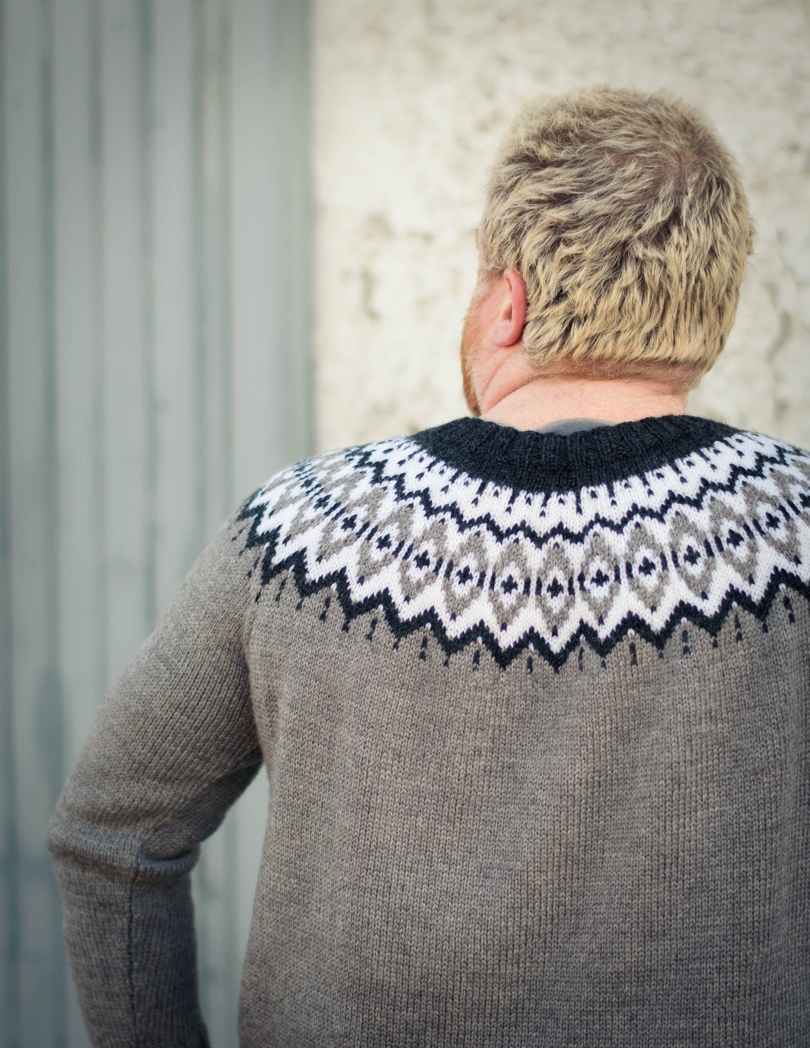 Approx Adult Small Personalised hand-knitted hand-embroidered knitwear