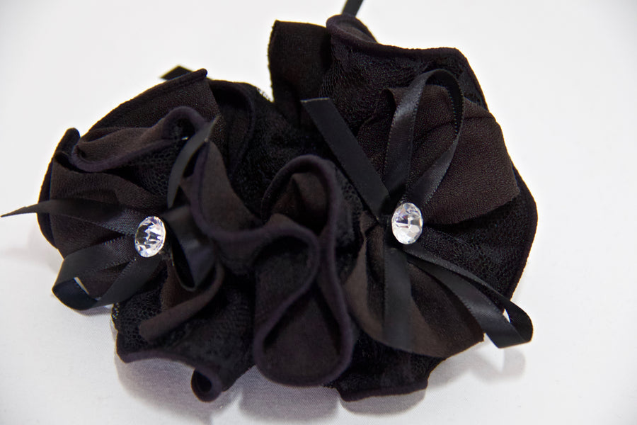 Lace Diamante Scrunchie