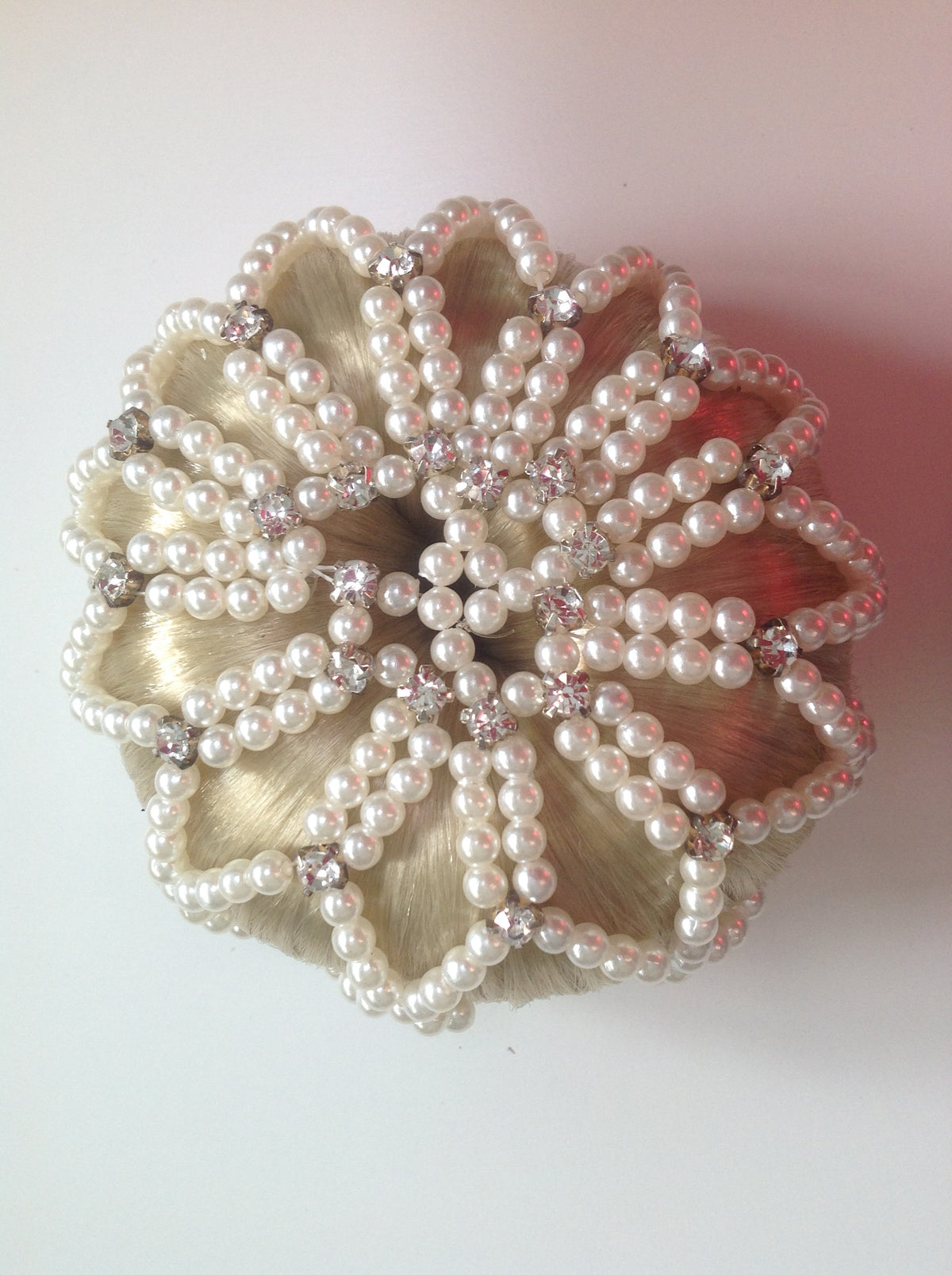 Pearl and Diamonte Beaded Bun Nets
