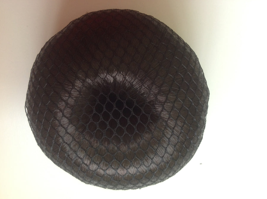 Fine Black mesh bun nets plain, swarovski Crystals and Pearls