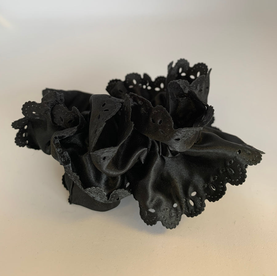 Satin Cut Out Design Scrunchie