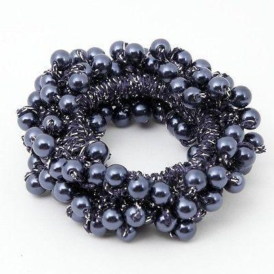 Solid Colour Sleek Faux Pearl Scrunchie
