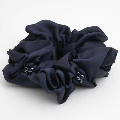 Luxurious Scrunchie hand decorated with Beads and Petals