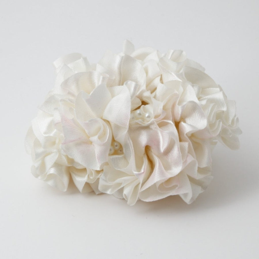 Satin Fabric Ruffle Wave Scrunchie