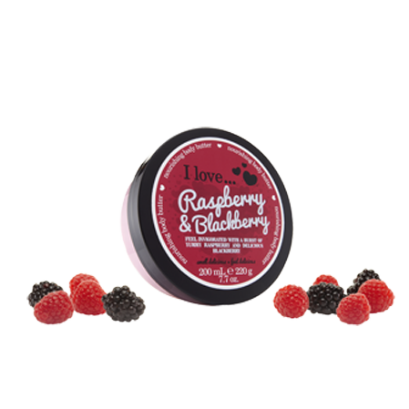 I Love Body Butter - Raspberry & Blackberry 200ml - Eliksirio