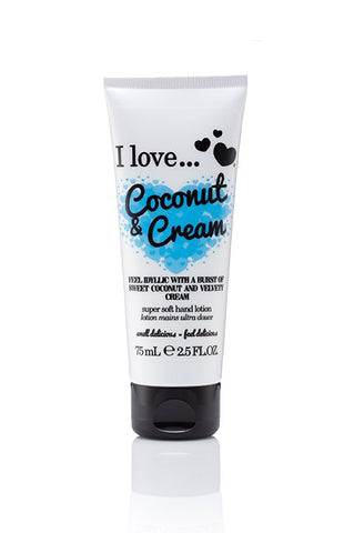 I Love Hand Lotion - Coconut And Cream - Eliksirio