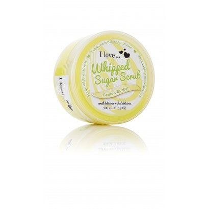I love... Lemon Sorbet Whipped Sugar Scrub 200ml - Eliksirio