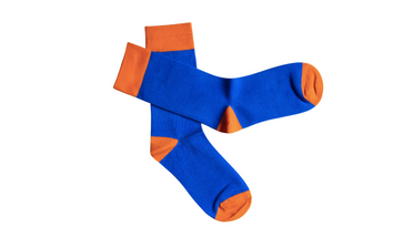Heel & Toe // Orange & Blue