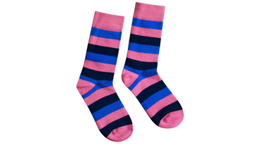 Stripe // Pink, Navy & Blue