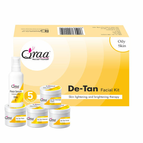De-Tan Facial Kit-Skin Lightening and Brightening Therapy 285 ml