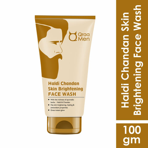 Qraa Haldi Chandan Skin Brightening Face Wash for Men-100g
