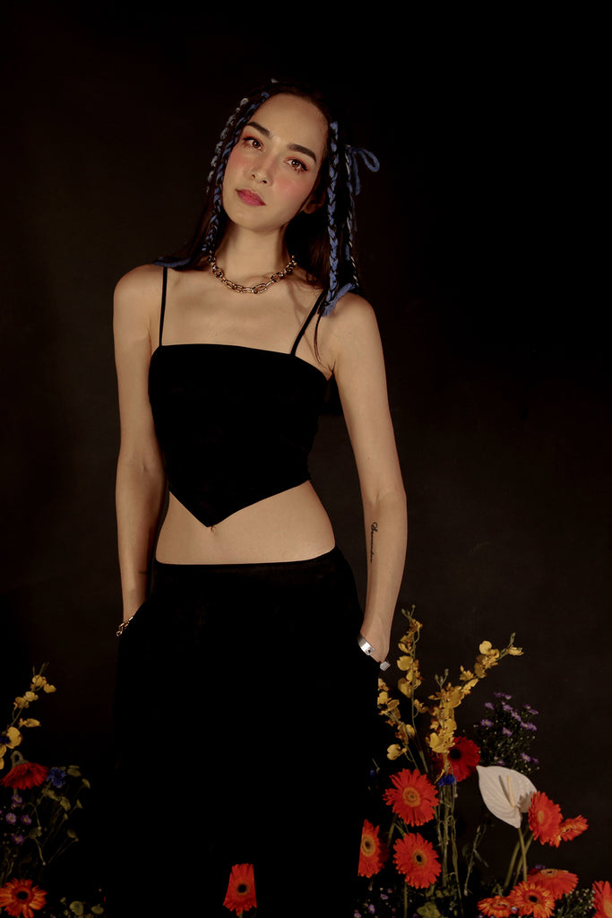 ARA SUMMER BANDANA CO-ORD (BLACK)