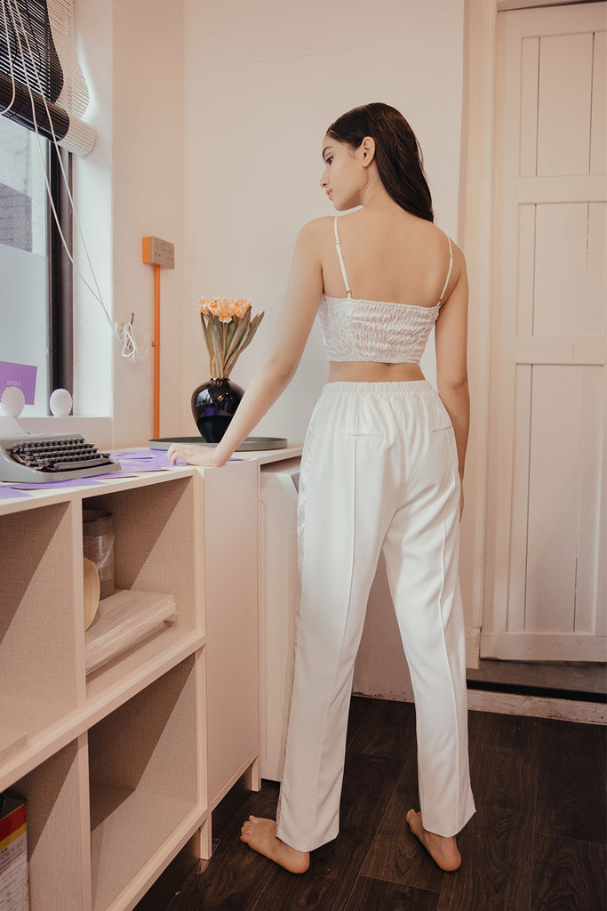 ALEXA PANEL PANTS (WHITE)
